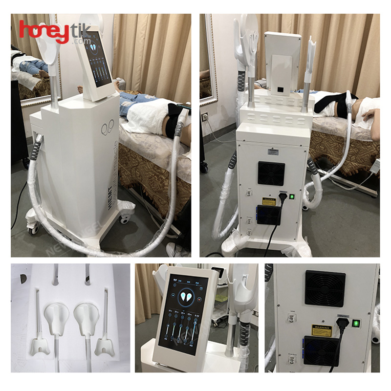 burn fat hiemt machine ems professional fitness hi-emt 7 telsa muscle stimulator ems sculpt 2 handles for legs