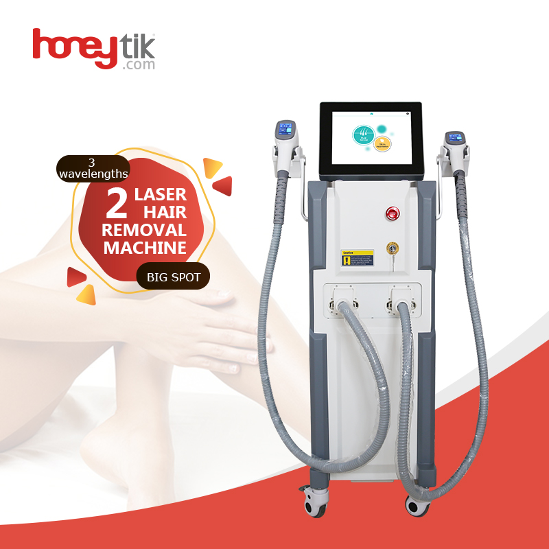 Laser hair removal device full body soft light permanent skin rejuvenation 2 handles working for all skin types